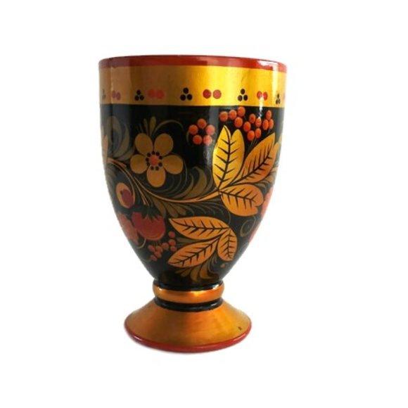 Russian Lacquerware Khokhloma Paper Napkin Holder